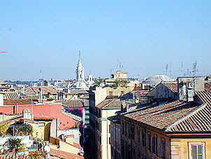 Spanish Steps domes, San Ivo alla Sapienza and the Pantheon